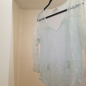 Lucky Brand lace top. Mint green color to it.